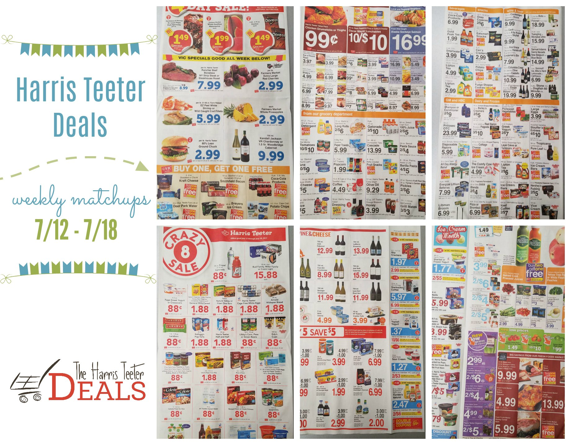 Harris Teeter Deals Weekly List and Coupon Matchups 7/12 - 7/18 - The Harris Teeter Deals