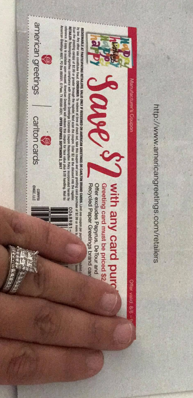 Hot american greetings card catalina the harris teeter deals coupon in your recent sunday paper i think it was two weeks ago on the 13th you can score an amazing deal fyi this coupon doesnt double but still a kristyandbryce Choice Image