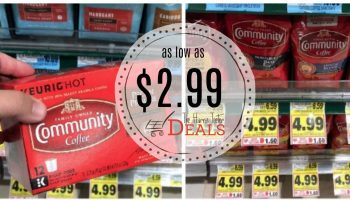Community Coffee as low as $2.99 at Harris Teeter!