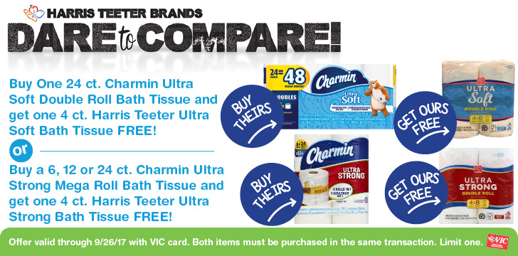 Dare To Compare Buy Charmin Get HT Brand FREE