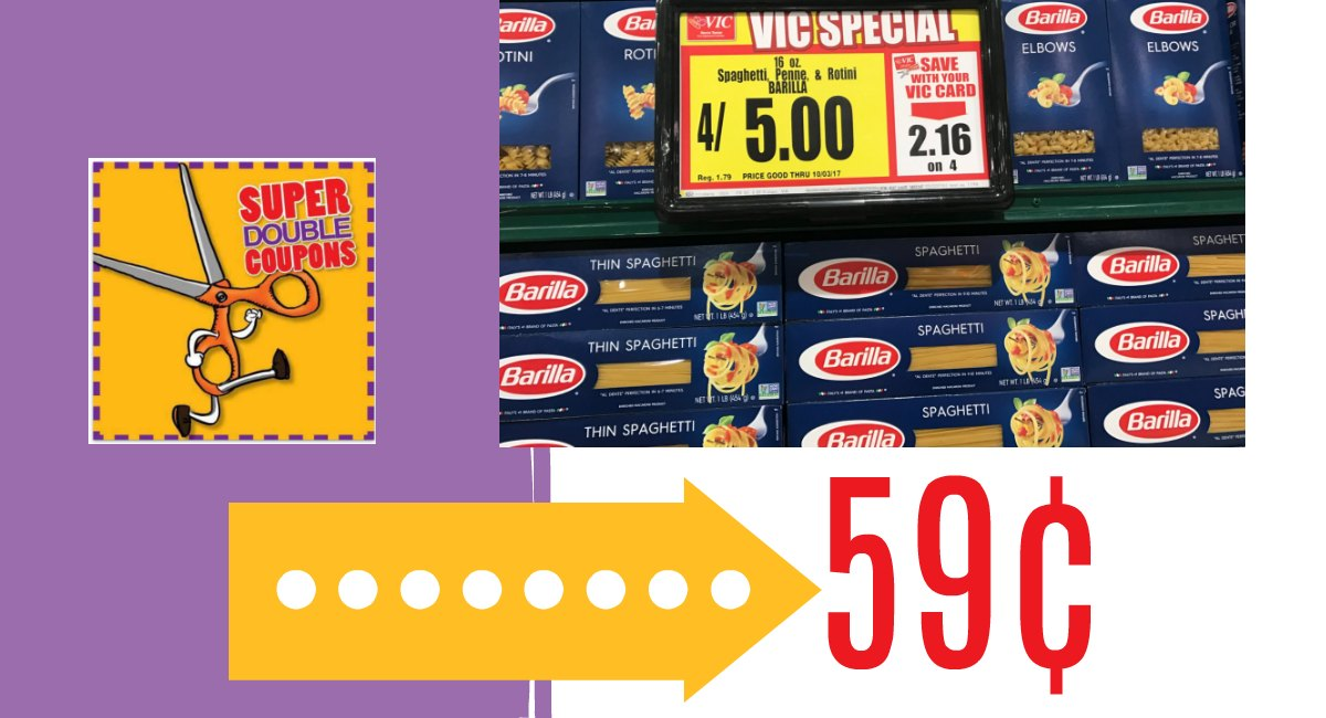 photo about Barilla Printable Coupons identified as Harris Teeter Tremendous Doubles: Barilla Pasta Sauce $1.00