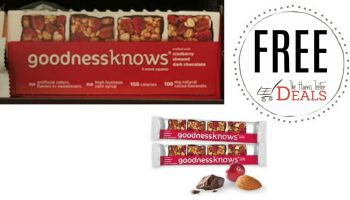 FREE Goodnessknows Bars at Harris Teeter!
