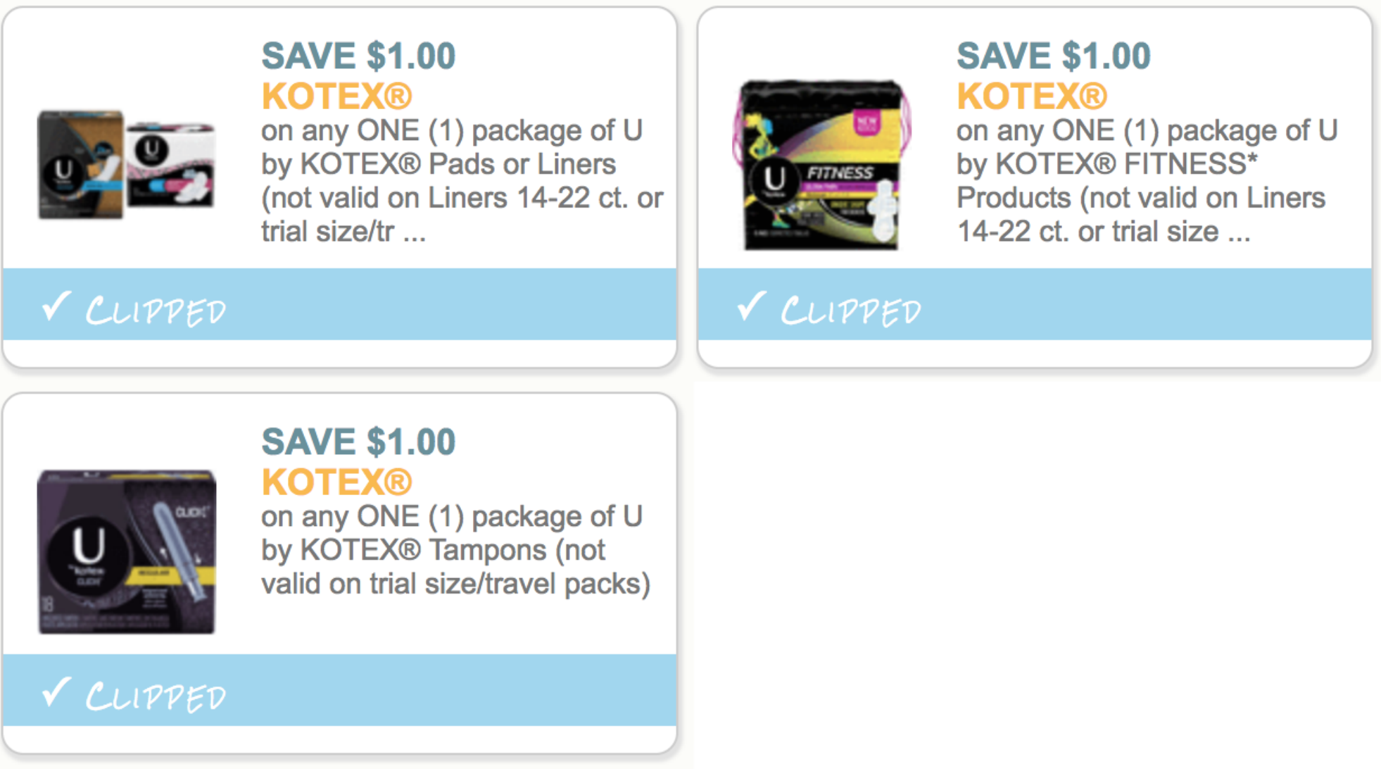 New Kotex Rebate Free Pads Liners Or Tampons During Super Doubles