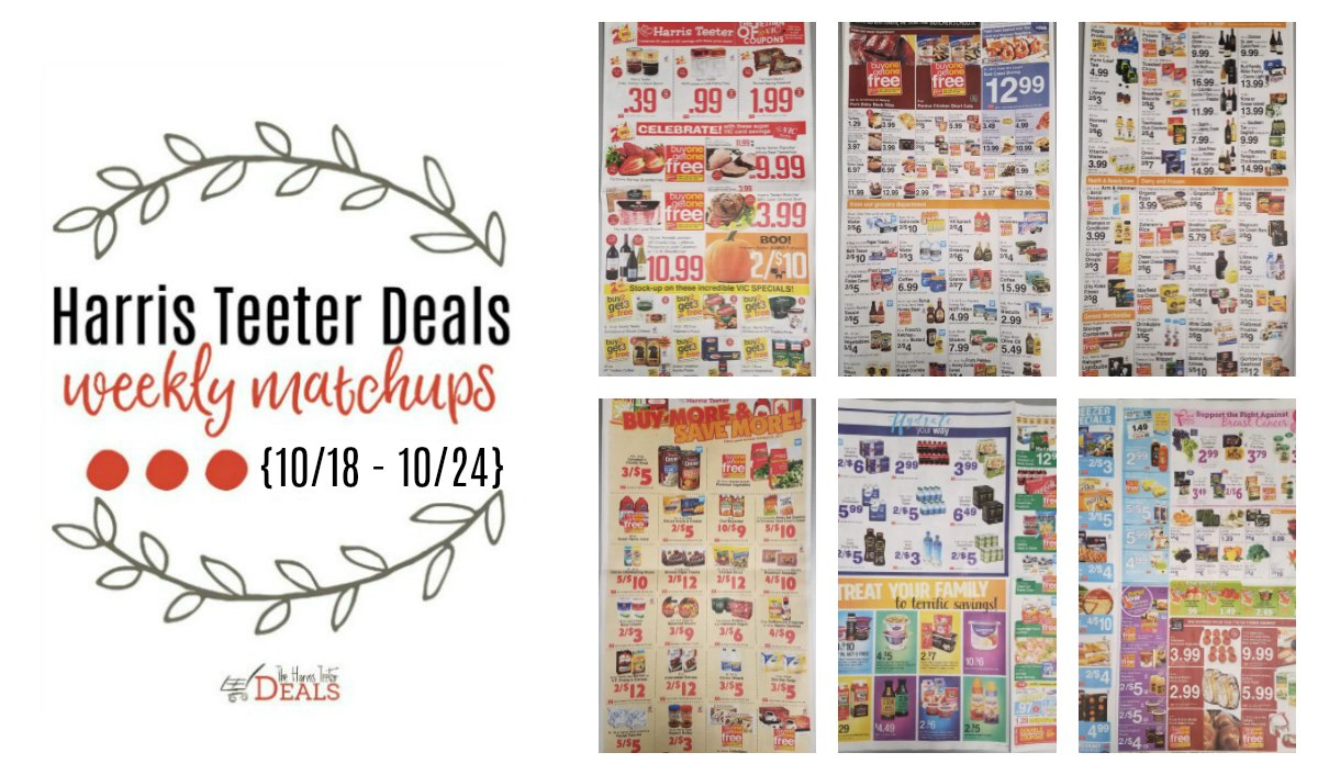 Harris Teeter Deals Weekly List and Coupon Matchups 10/18 - 10/24 ...