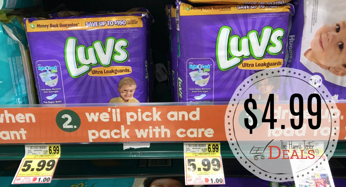 image about Printable Luvs Coupons named Luvs Diapers Merely $4.99 immediately after coupon! - The Harris Teeter Specials