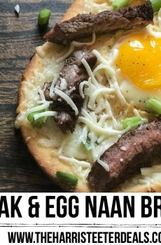 Steak and Egg Naan Bread Recipe {Deals to Meals}