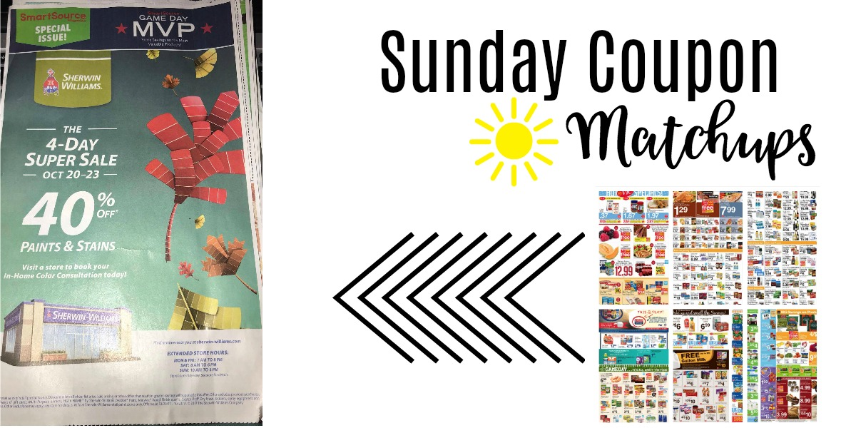 sunday coupon matchups  one insert