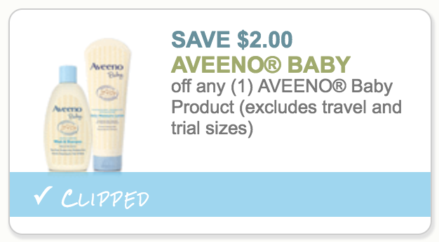 Aveeno baby products coupons