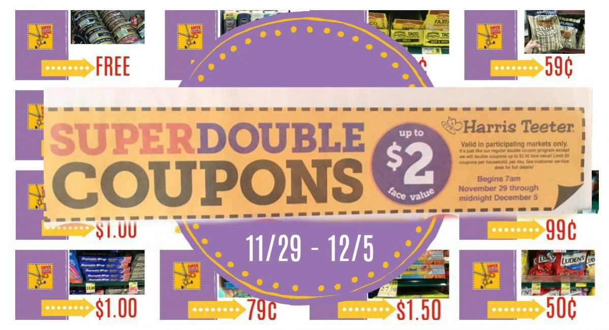 Harris Teeter Super Doubles 11/29 – 12/5 {CONFIRMED ALL WEEK}
