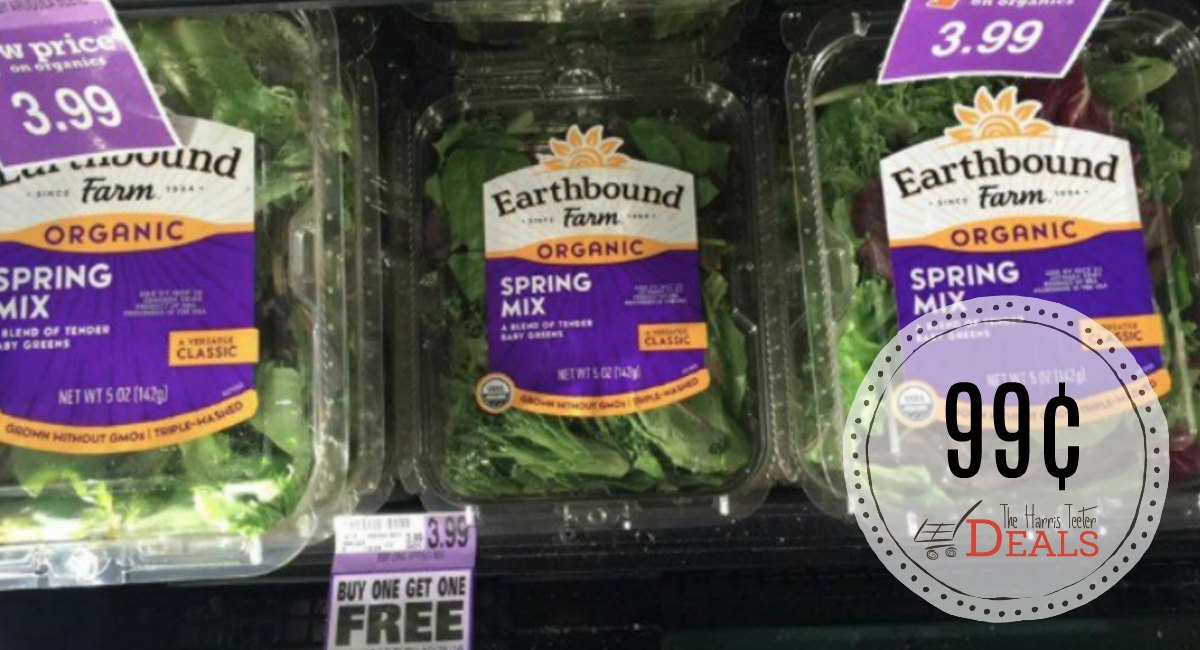 Earthbound Farm Organic Lettuce just 99¢ {after coupon}