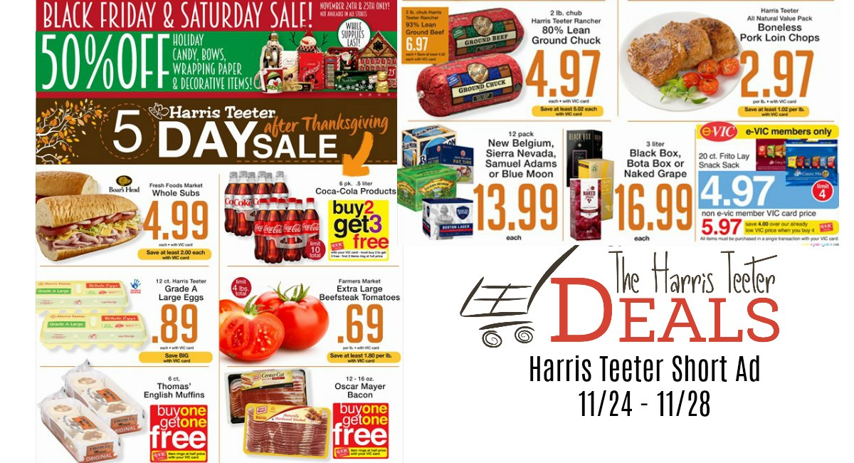 Harris Teeter After Thanksgiving Ad 11/24 – 11/28- Matchups