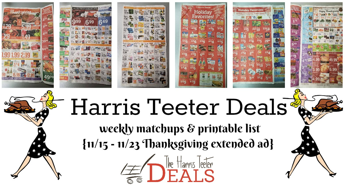 Harris Teeter Deals Weekly List and Coupon Matchups 11/15 – 11/23 – Thanksgiving Ad!