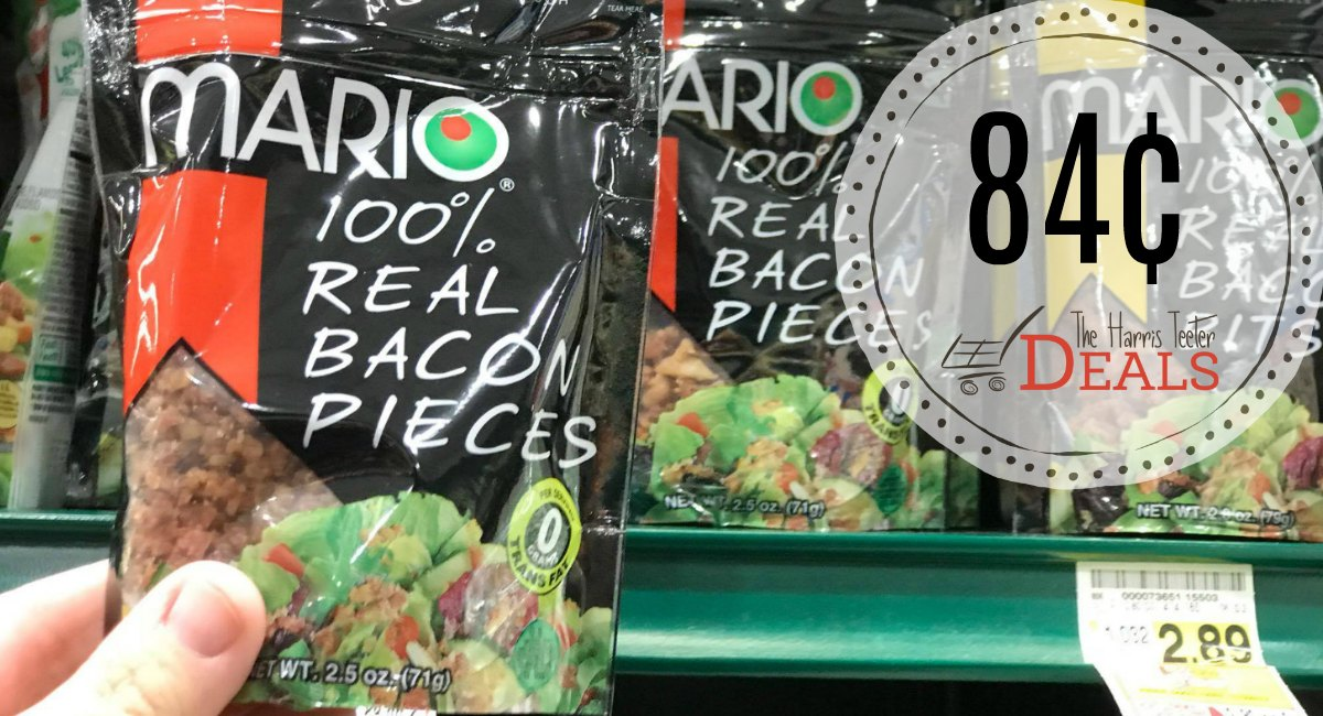 Mario Bacon Pieces or Bits 84¢ at Harris Teeter! - The