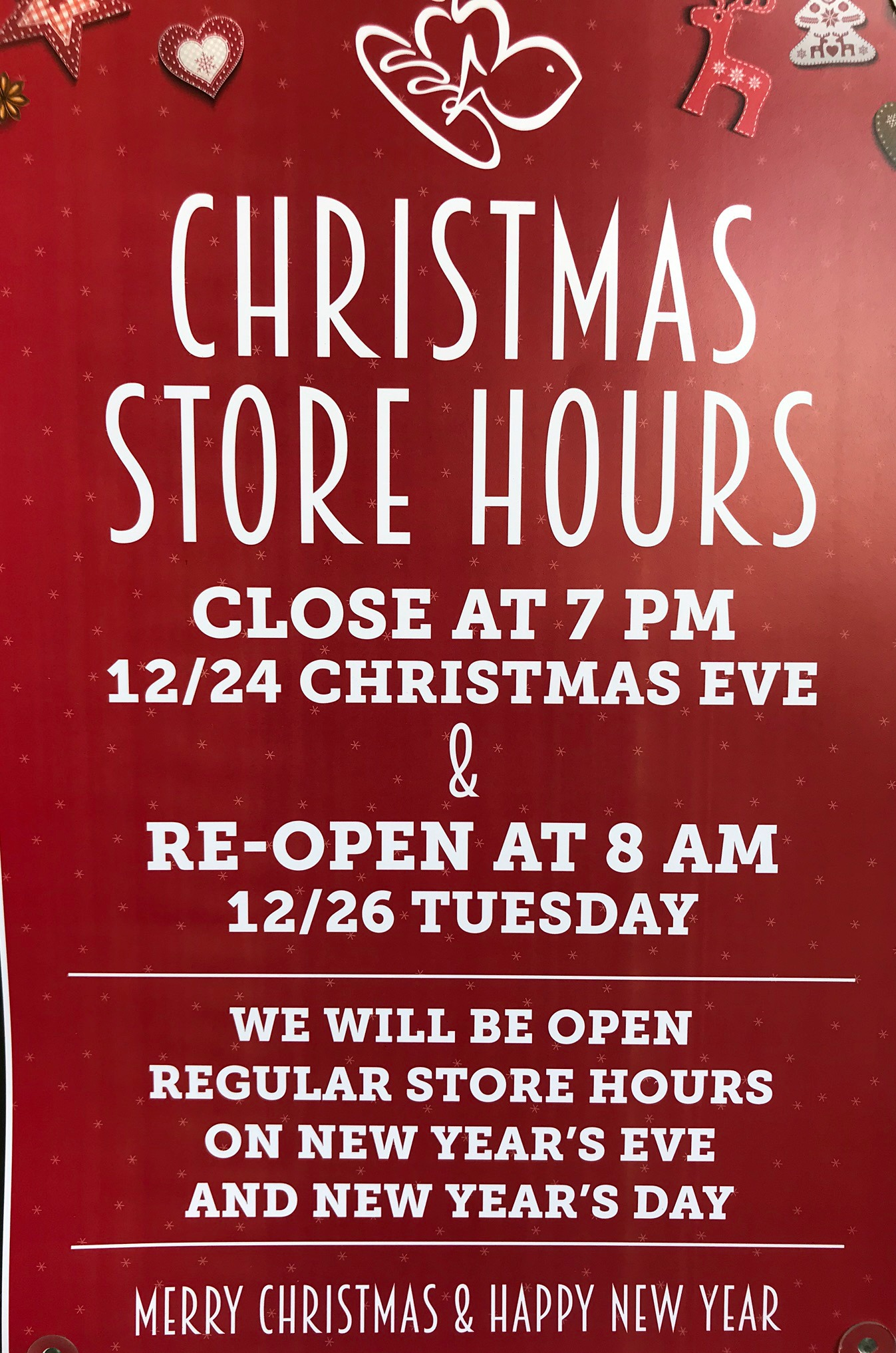 just wanted to give you all the heads up that harris teeter will close christmas eve december 24th at 7pm stores will be closed christmas day - What Stores Will Be Open Christmas Day