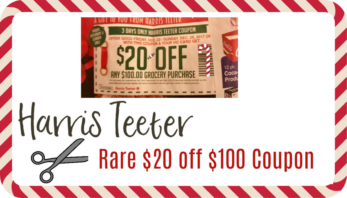 Harris Teeter is a grocery store that offers top quality products at a fair price. Customer service remains their top priority. Their stores are located in eight states and the District of Columbia. Watch their website and newspaper ads for Harris Teeter coupon codes and coupons.