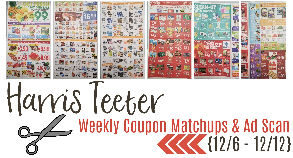 Harris Teeter Deals Weekly List and Coupon Matchups 12/6 – 12/12