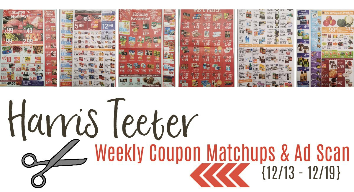 Harris Teeter Deals Weekly List and Coupon Matchups 12/13 – 12/19