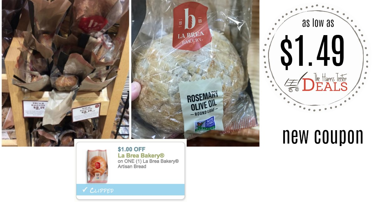 NEW La Brea Bread Coupon! Deals as low as $1.49 at Harris Teeter!