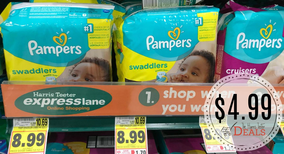 Pampers Diapers Only 4 99 At Harris Teeter The Harris