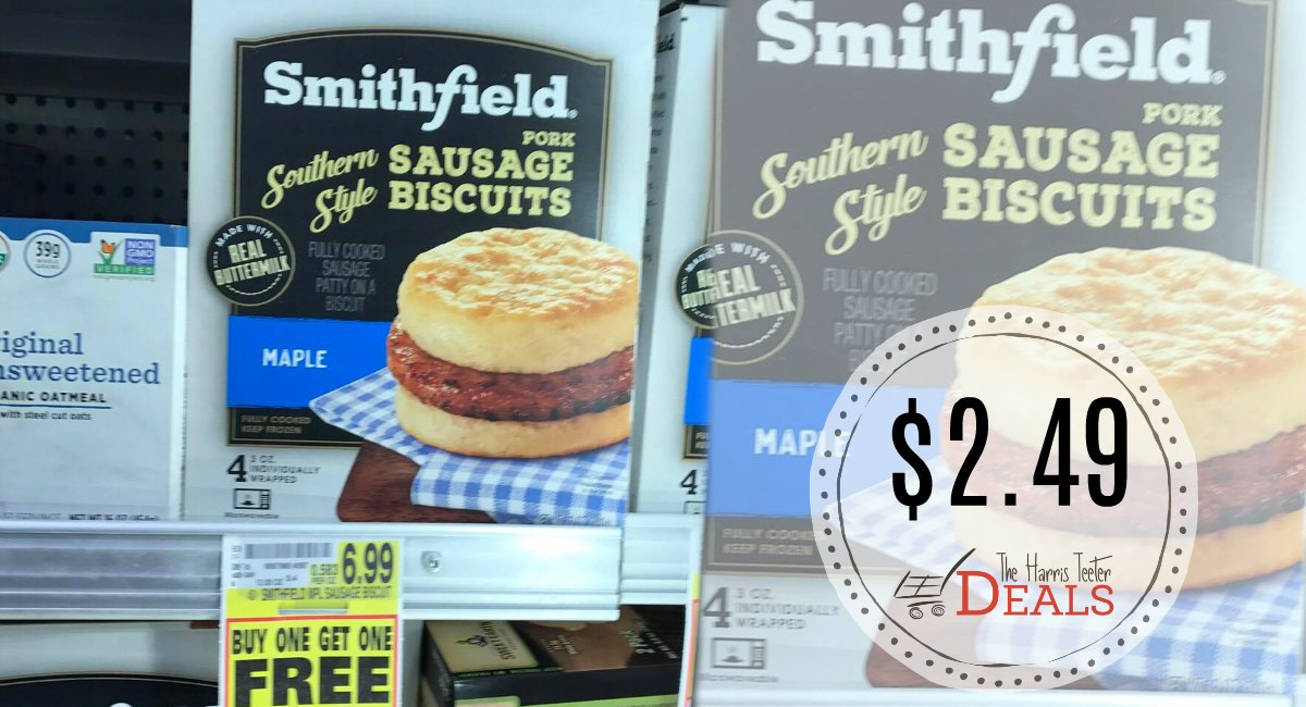 Smithfield Breakfast Biscuits $2.49 at Harris Teeter!