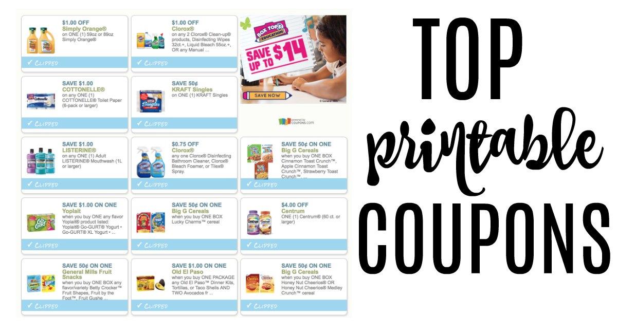 top printable coupons to print