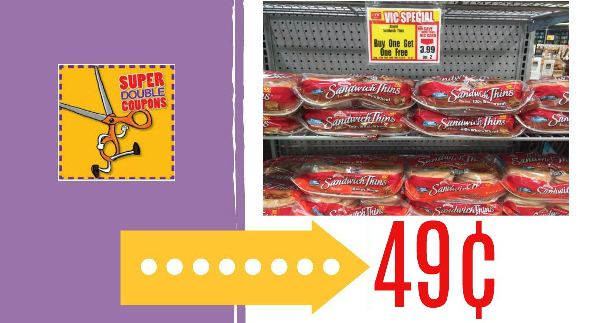 Upcoming Sale: Arnold Thins 49¢ at Harris Teeter!