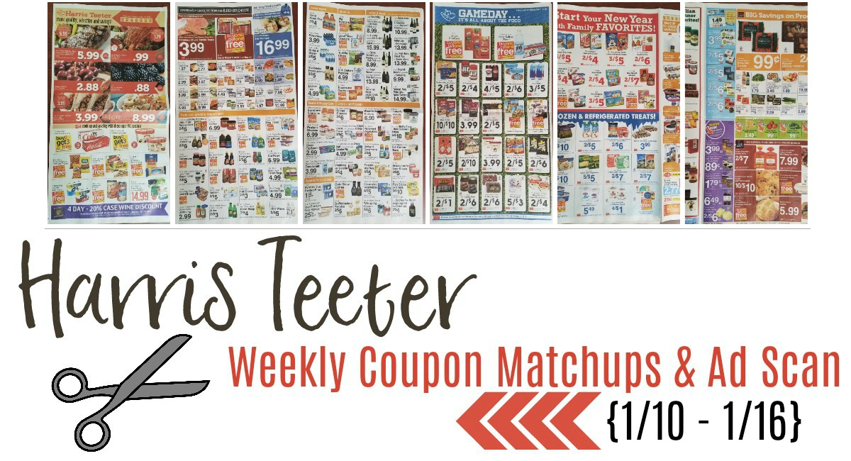 Harris Teeter Deals Weekly List and Coupon Matchups 1/10 – 1/16