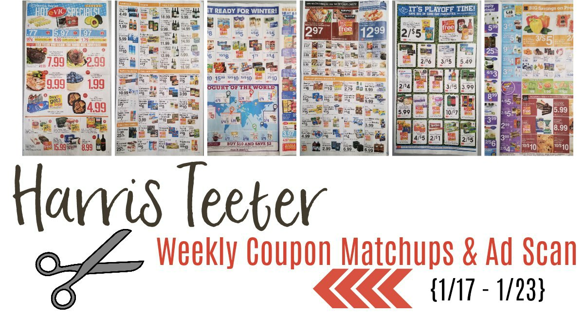 Harris Teeter Deals Weekly List and Coupon Matchups 1/17 – 1/23