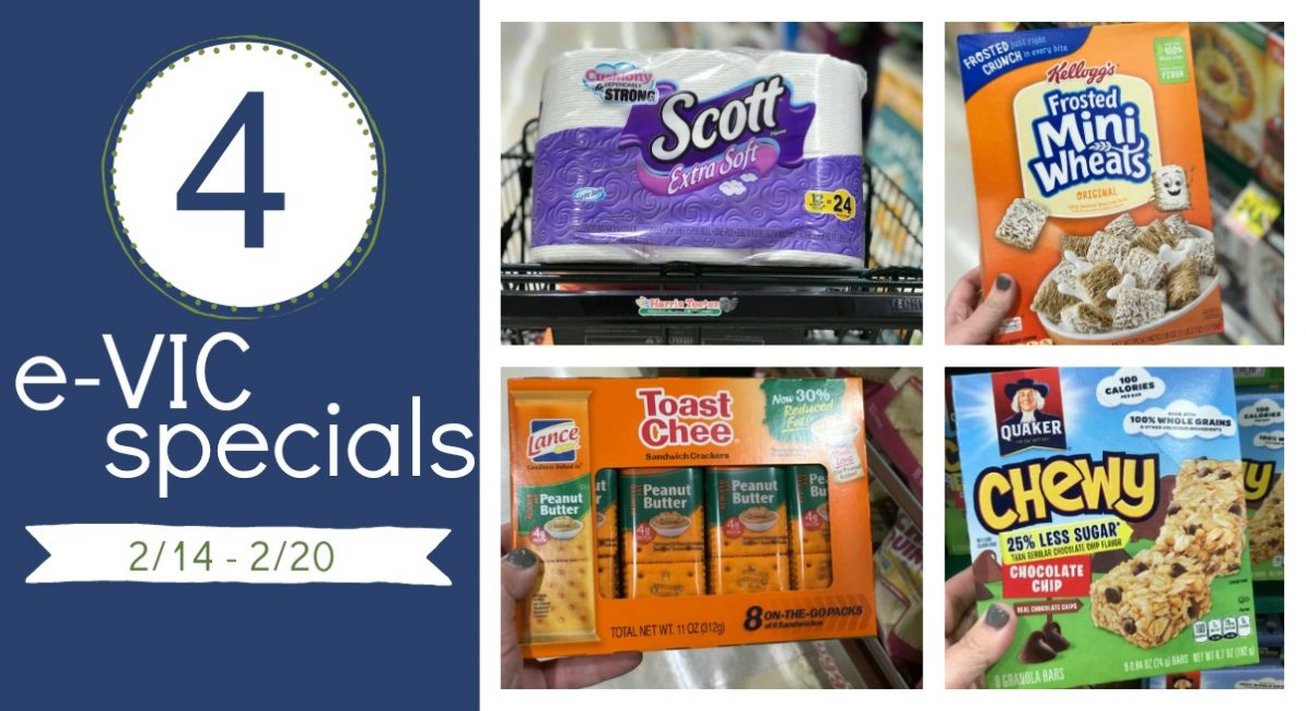 FOUR e-VIC Specials {97¢ Cereal, $2.87 Scott and more!}