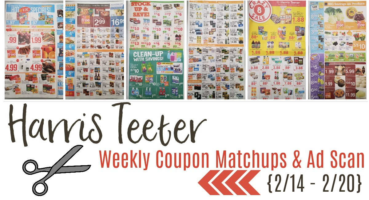 Harris Teeter Deals Weekly List and Coupon Matchups 2/14 – 2/20