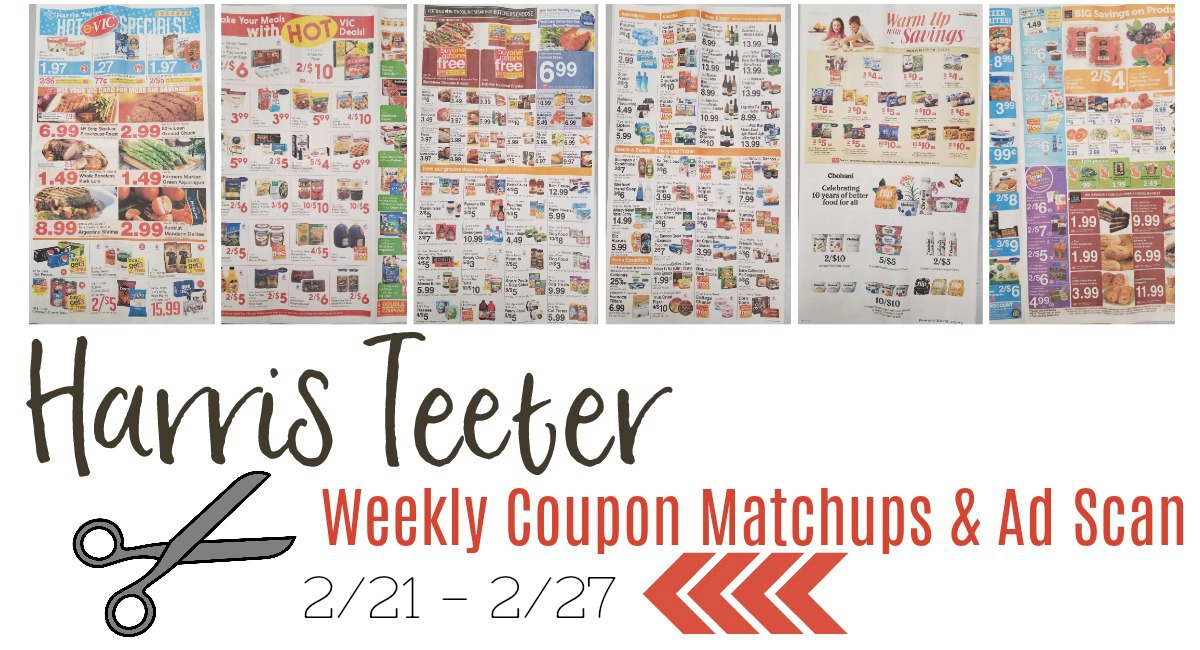 Harris Teeter Deals Weekly List and Coupon Matchups 2/21 – 2/27