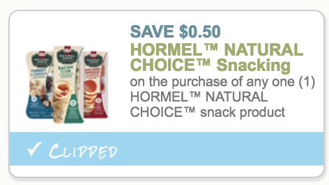 Hormel Natural Choice Snack Tray 33¢