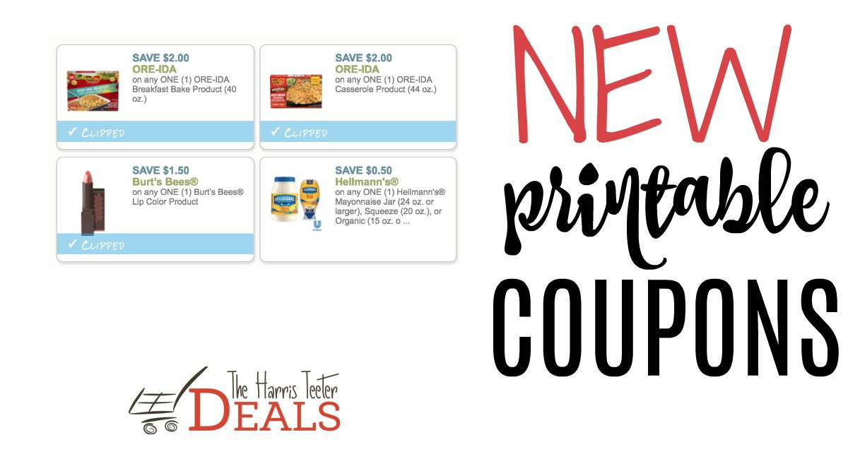picture about Burt's Bees Coupons Printable called Refreshing Printable Coupon codes Ore-Ida and Burts Bees - The Harris