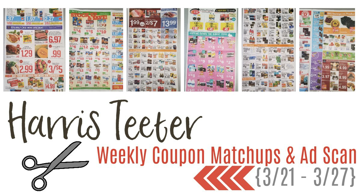 Harris Teeter Deals Weekly List and Coupon Matchups 3/21 – 3/27