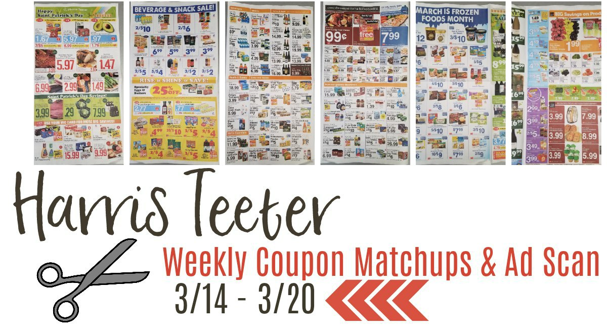 Harris Teeter Deals Weekly List and Coupon Matchups 3/14 – 3/20