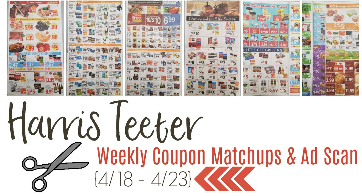 Harris Teeter Deals Weekly List, Ad Scan and Coupon Matchups 4/18 – 4/23