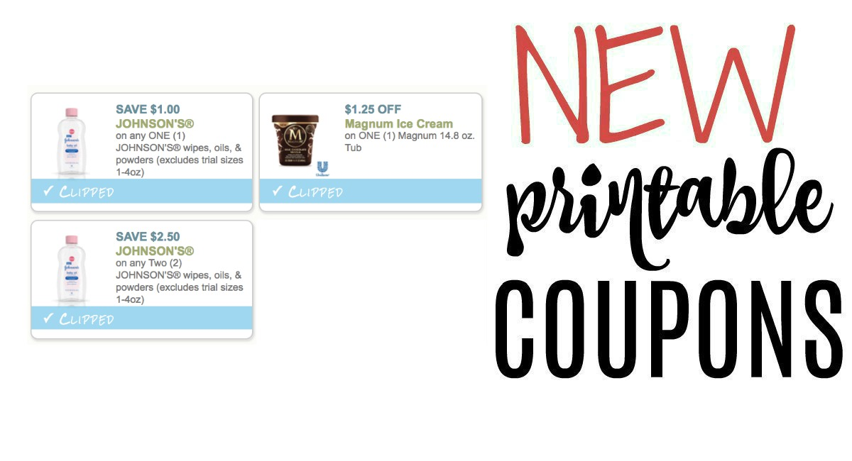 graphic relating to Johnson and Johnson Coupons Printable titled Fresh new Printable Discount codes Magnum and Johnson Johnson - The