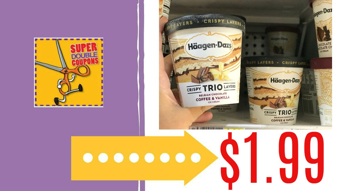 graphic regarding Haagen Dazs Coupon Printable referred to as Haagen-Dazs Trios $1.99: Tremendous Doubles! - The Harris Teeter