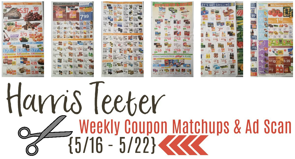 Harris Teeter Deals Weekly List, Ad Scan and Coupon Matchups 5/16 – 5/22