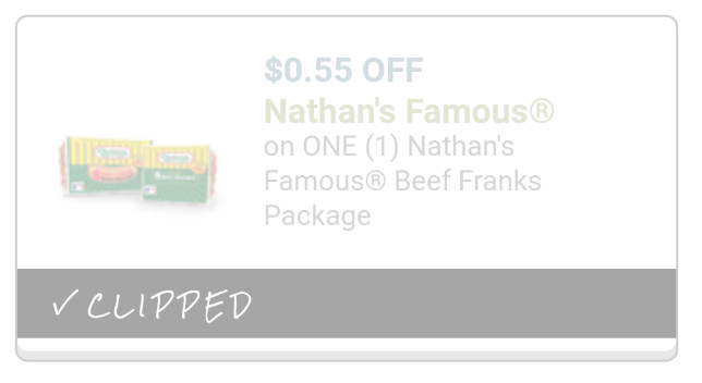 photo about Nathans Printable Coupons identified as Unusual Nathans Very hot Canine Coupon: $3.40 at Harris Teeter! - The