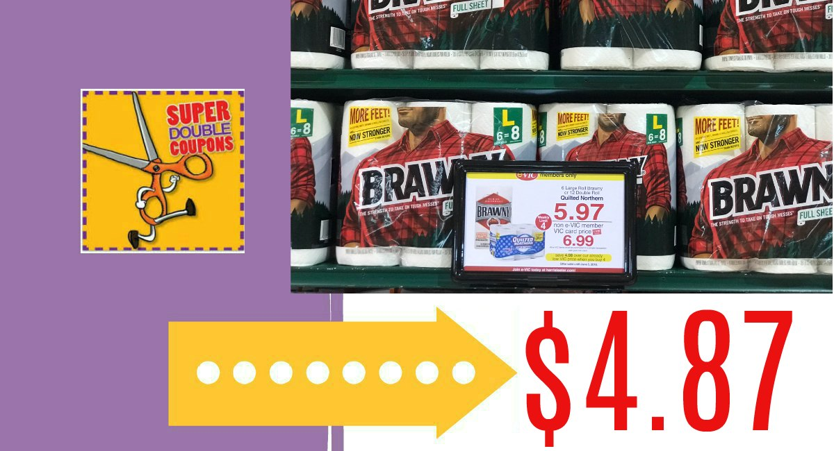 image regarding Brawny Printable Coupons referred to as Brawny Paper Towels $4.87 at Harris Teeter! - The Harris