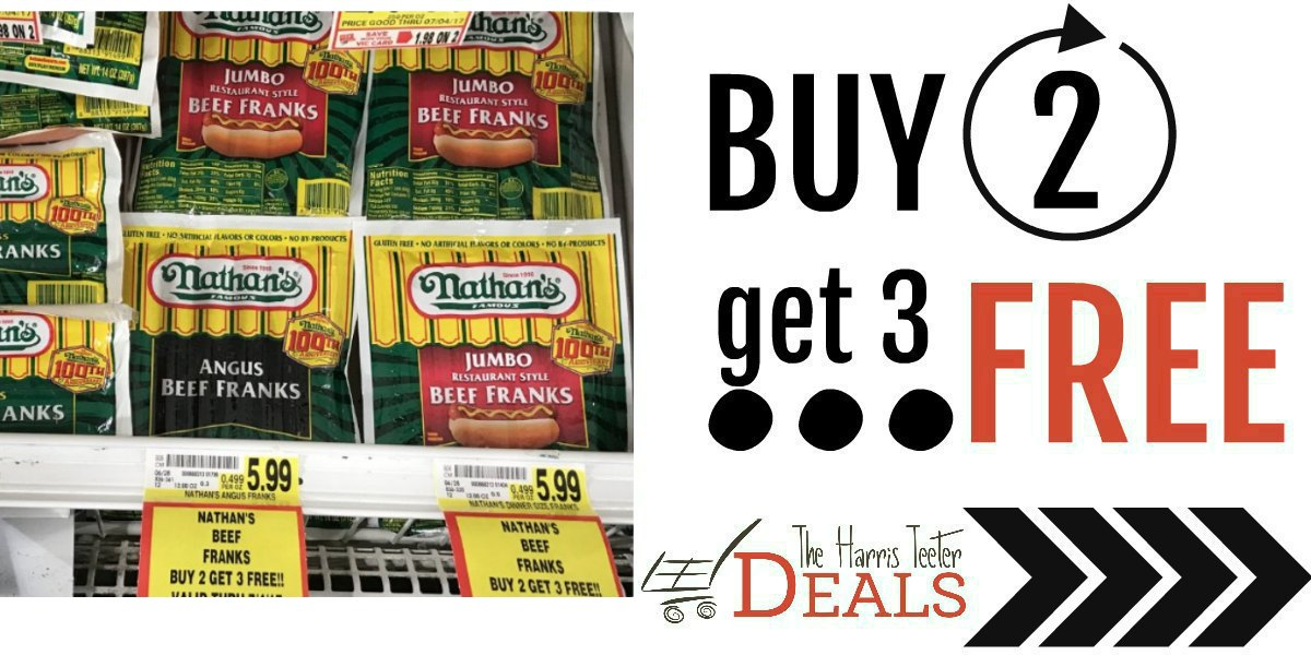 photo about Nathans Printable Coupons referred to as Order 2 buy 3 Cost-free Nathans Sizzling Canine: Long term Sale + Coupon