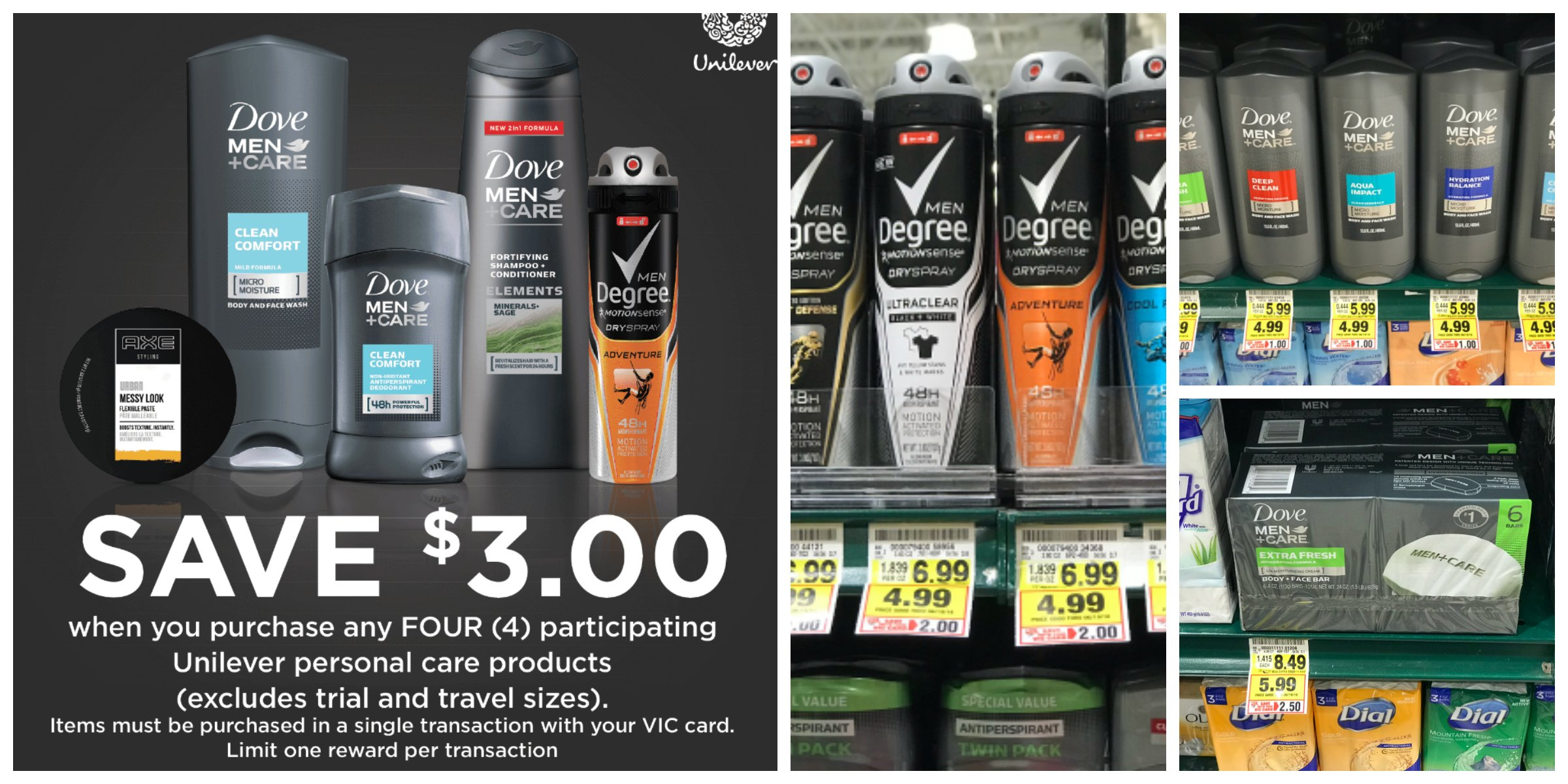 Men S Care Unilever Promotion Buy 4 Save 3 Instantly The Harris