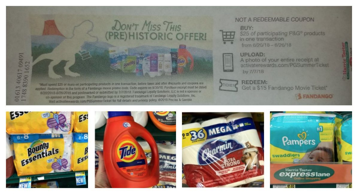 P&G Products Promo: $15 Fandango Movie Offer