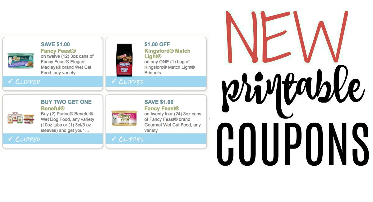picture regarding Fancy Feast Printable Coupons named Refreshing Printable Coupon codes Kingsford and Extravagant Feast - The