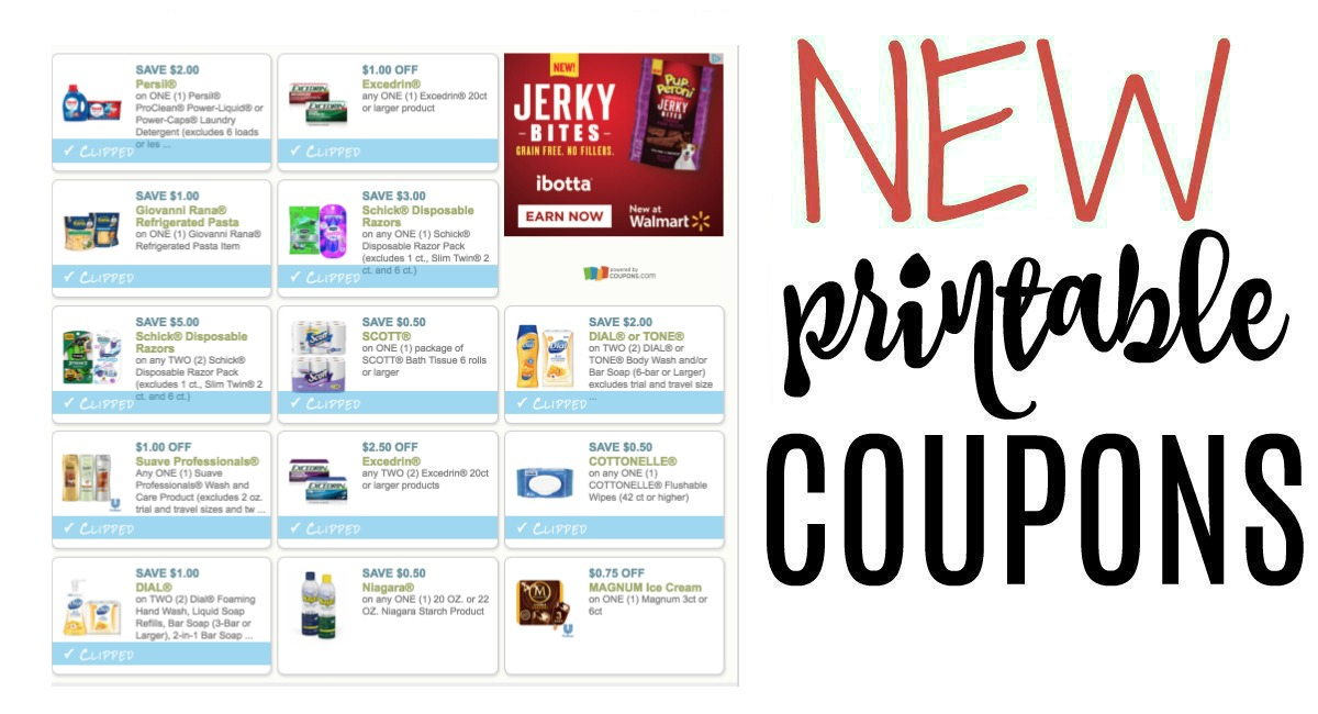 photo about Printable Suave Coupons identify Fresh Printable Coupon codes Cottonelle, Ball Jars, Schick, and