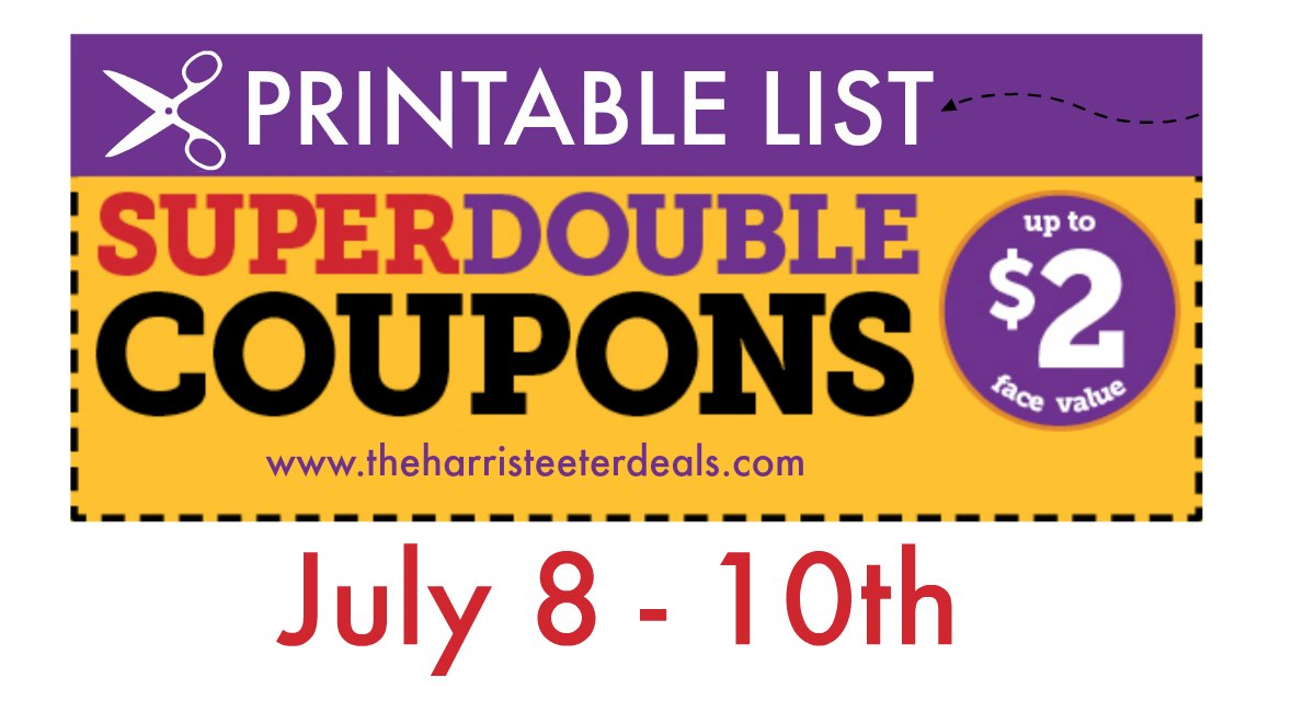 picture regarding Printable Biore Coupons known as Harris Teeter Tremendous Doubles 07/08 07/10: Printable Checklist