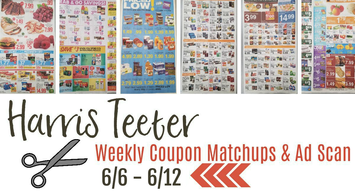 Harris Teeter Deals Weekly Matchups + Ad Scan 6/6 – 6/12