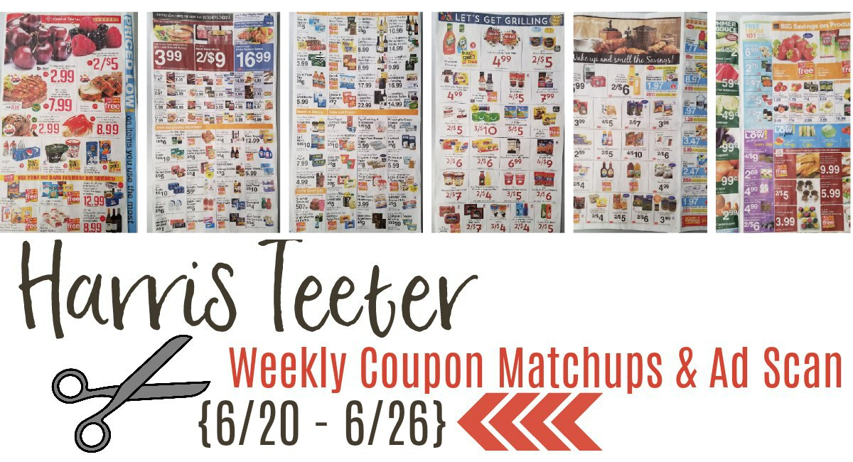 Harris Teeter Deals Weekly Matchups + Ad Scan 6/20 – 6/29