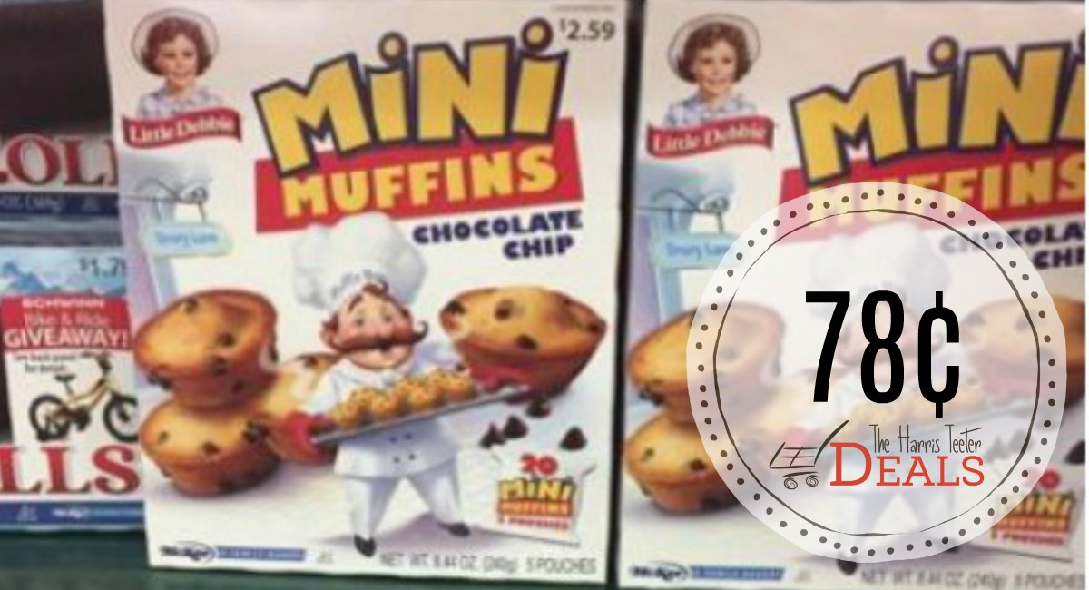 Little Debbie Mini Muffins and Brownies 78¢ at Harris Teeter!